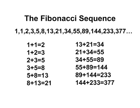 pattern sequence exles the fibonacci sequence thinglink