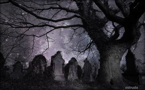 a magical night in the cemetery by estruda on deviantart