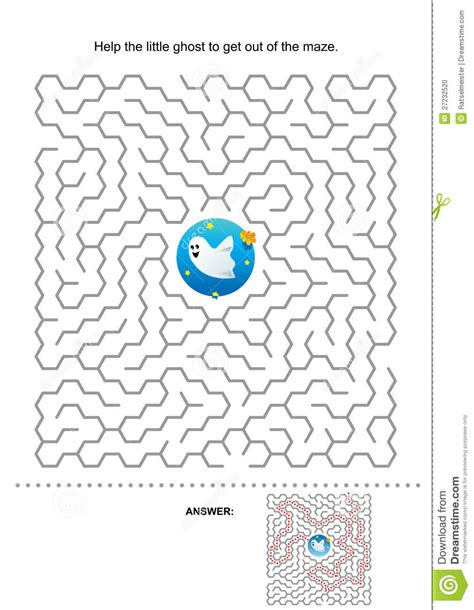 Halloween Maze Game For Kids Stock Photo Image 27232520