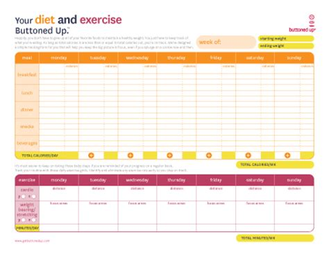 printable diet and exercise planner free printable diet exercise worksheet but if you have