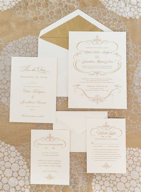 Wedding Invitations Gold And White by Gold And White Wedding Invitations Elizabeth
