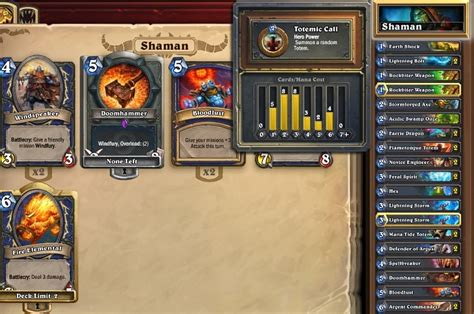 level 1 shaman deck hearthstone features deckbuilding and crafting for the