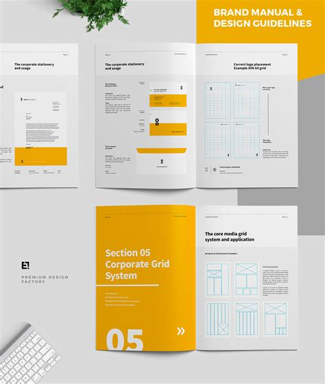 brochure layout design rules core brand manual guidelines on behance print