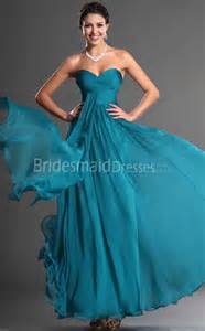 a line turquoise chiffon sweetheart floor length with