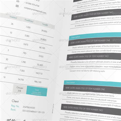 Invoice Breakdown Letter Corporate Project Brochure By Scopulus Graphicriver
