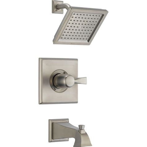 Delta Dryden Shower by Delta Foundations 1 Handle Shower Only Faucet Trim Kit In Stainless Valve Not Included Bt13210