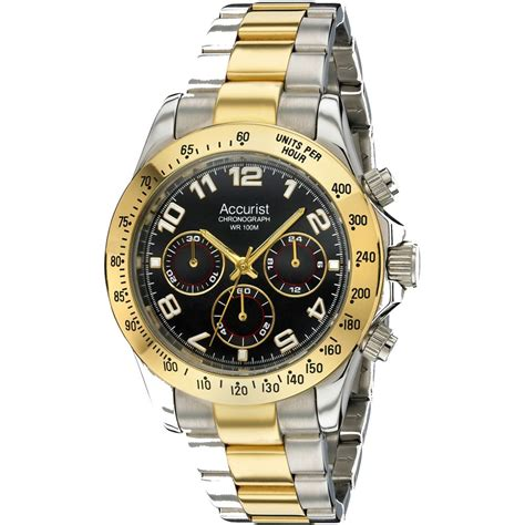 mens accurist two tone stainless steel mb981b