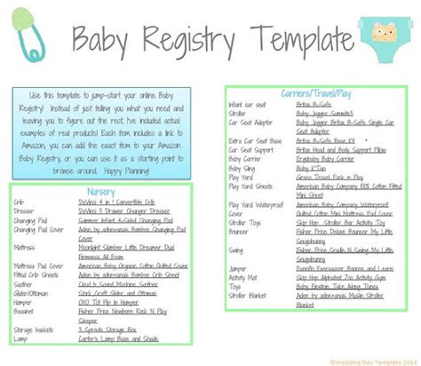 baby shower registry cards template baby registry deals on 1001 blocks