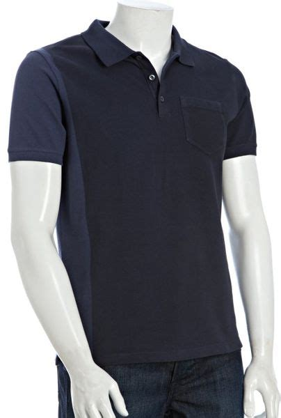 Jaket Button Line 2 Tone Navy Pocket prada sport navy two tone cotton pocket polo in blue for navy lyst