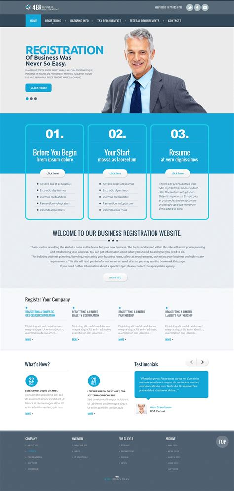 responsive website templates for quiz management company responsive website template 46285