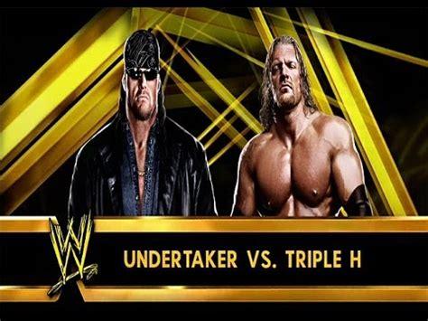 wwe 2k14 triple h wwe 2k14 quot american badass quot undertaker vs triple h
