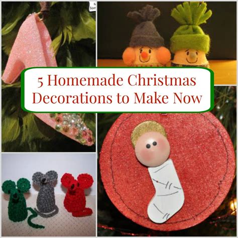 how to make home made decorations 5 decorations to make now allfreechristmascrafts