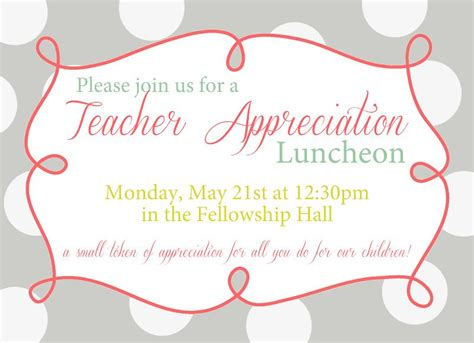 Appreciation Luncheon Invitation Wording Appreciation Dinner Invitation Template