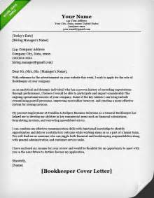 Bookkeeper Resume Cover Letter by Accounting Finance Cover Letter Sles Resume Genius