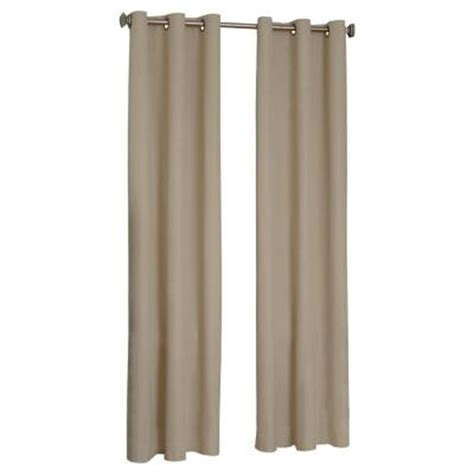 home depot curtain panels eclipse microfiber blackout chocolate grommet curtain