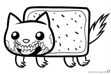 nyan cat coloring pages nyan cat coloring pages cat free printable