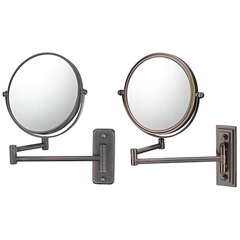 bathroom mirror wall mount with extension arm 5x 1x double arm extension wall mirror bed bath beyond