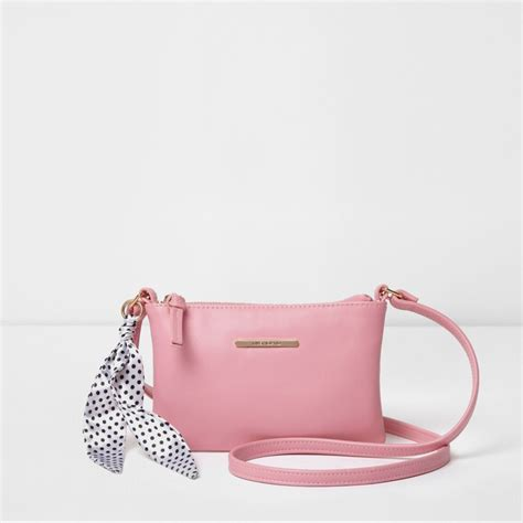 Griliy Bag pink polka dot scarf cross bag bags bags