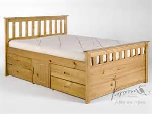 Vintage Bed Frames With Storage Verona Ferrara Storage King Size Antique Pine Bed Frame