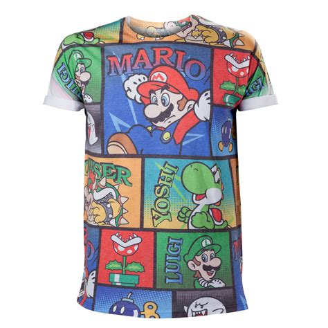 T Shirt Mario Bros World nintendo mario en co print t shirt mario creeperz