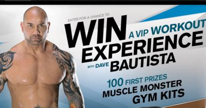 Monster Energy Sweepstakes - monster energy workout with dave bautista sweepstakes sun sweeps