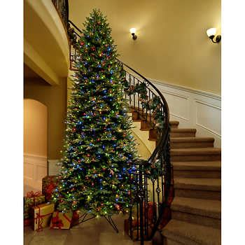 ge 12 ft artificial aspen fir pre lit led easy light