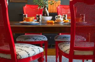 Painted Dining Room Sets Diy Ideas Spray Paint And Reupholster Your Dining Room
