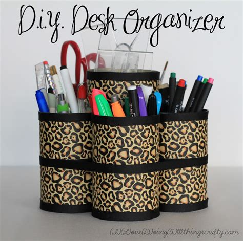 Printable Desk Organizer | animal print crafts that help you find the wilderness within