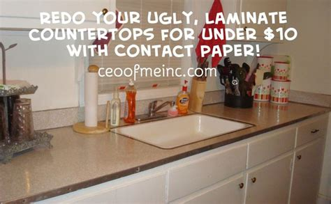 redo your ugly laminate countertops for under 10 dollars
