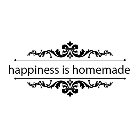 Red Accents For Kitchen - happiness is homemade flourish accents wall quotes decal wallquotes com