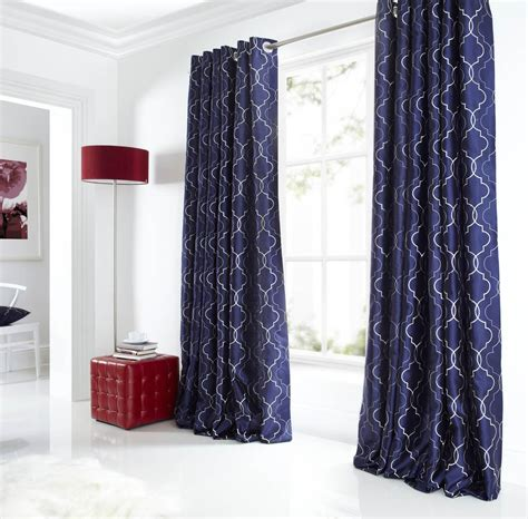 navy and silver curtains midtown eyelet lined curtains blue free uk delivery