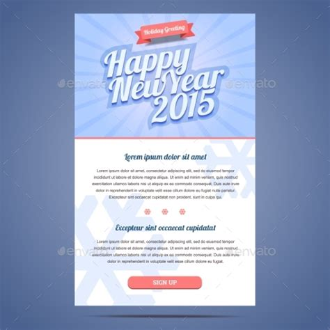happy new year holiday greeting email template by