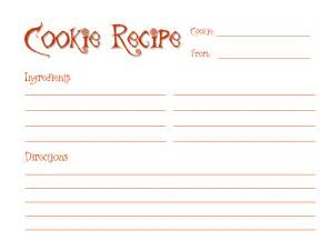 Cookie Exchange Recipe Card Template by Event Organizer Cookie Exchange Recipe Cards Free