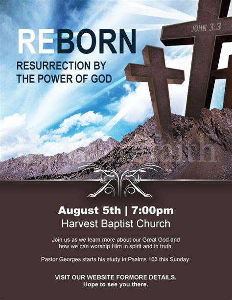 Reborn Church Flyer Template Template Flyer Templates Religious Flyer Templates Free