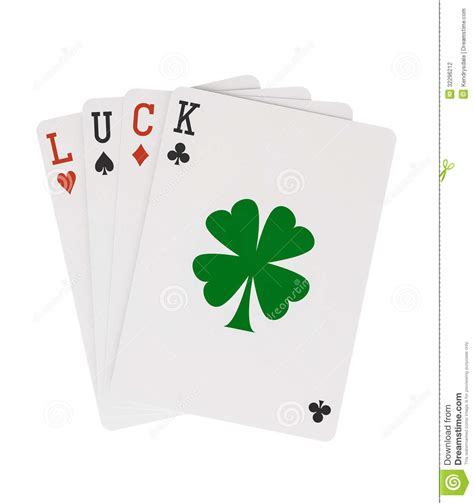 luck card word template word luck cards with lucky clover leaf cli stock