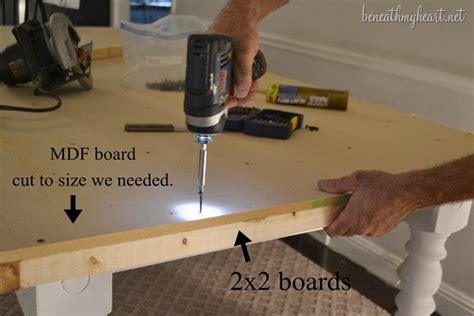diy mdf desk diy zinc top kitchen table beneath my
