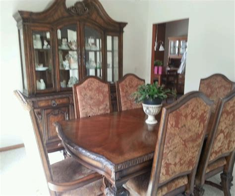 Cherry Dining Room Table And Chairs 10 Place Setting Solid Brazillian Cherry Dining Room Table And 6 Chairs Ebay