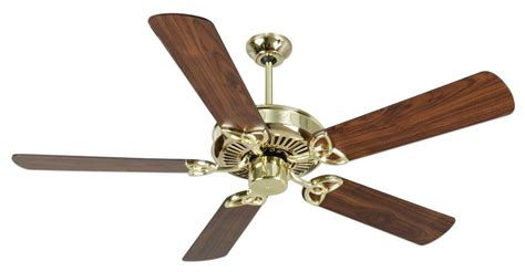 Polished Brass Ceiling Fans by Craftmade Pb Polished Brass Ceiling Fan K10975