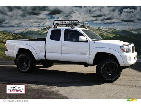 white toyota truck 2010 super white toyota tacoma v6 sr5 trd sport access cab