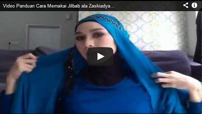 tutorial berhijab pashmina kaos cara memakai jilbab pashmina kaos ala zaskiadya mecca