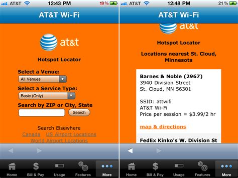 Portable Wifi At T at t mywireless mobile gets wi fi hotspot locator