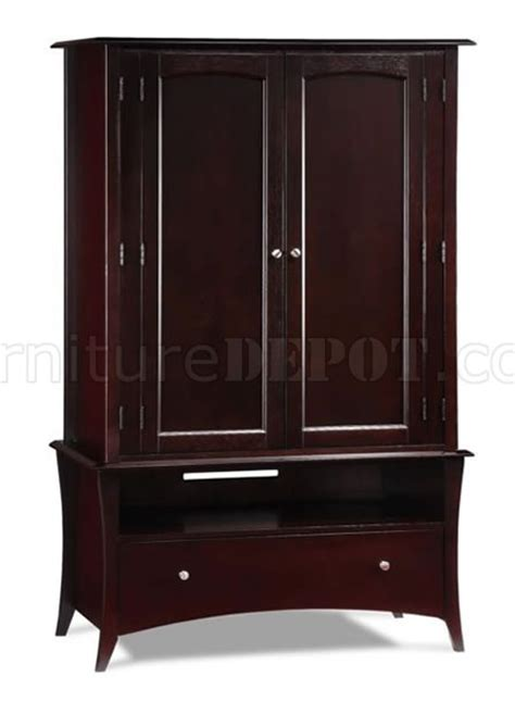 Modern Tv Armoire by Cappuccino Or Beachwood Finish Modern Two Door Armoire