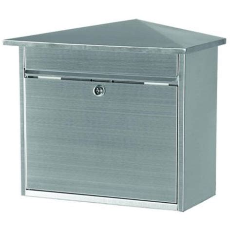 gibraltar mailboxes barlowe stainless steel wall mount