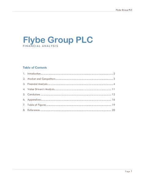 Liverpool Mba Modules by Flybe Financial Analysis