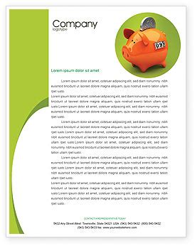 Deutsche Bank Letterhead Piggy Bank Letterhead Template Layout For Microsoft Word Adobe Illustrator And Other Formats