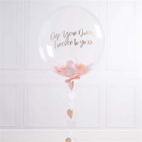Personalised Paper Anniversary Bubble Balloon   Love