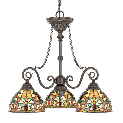 Chandelier Style Lights Shop Cascadia Lighting Kami 25 In 3 Light Vintage Bronze