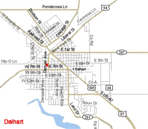map of dalhart texas xit museum map