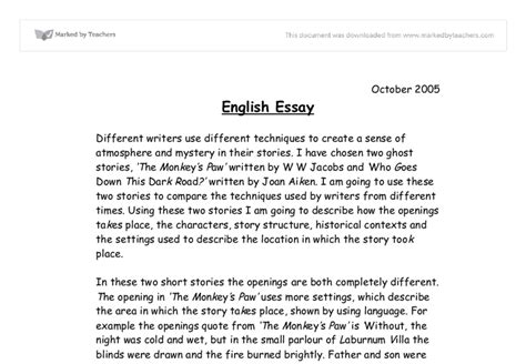 thesis about education in english exle of a good english essay gcse english marked by