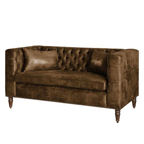 sofa günstig kaufen sofa sherbrooke 2 sitzer antiklederlook braun maison